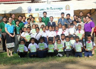 School Year 2013's 2,500 sets of learning books were handed over to needy students in Sekong, Laos PDR