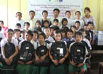 School Year 2012's EDF Scholarship Presentation Ceremony in Myanmar